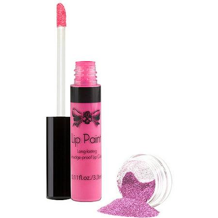 TATTOO JUNKEE Rose chatouillé lèvres Peinture & Set Glitter, 2 pc