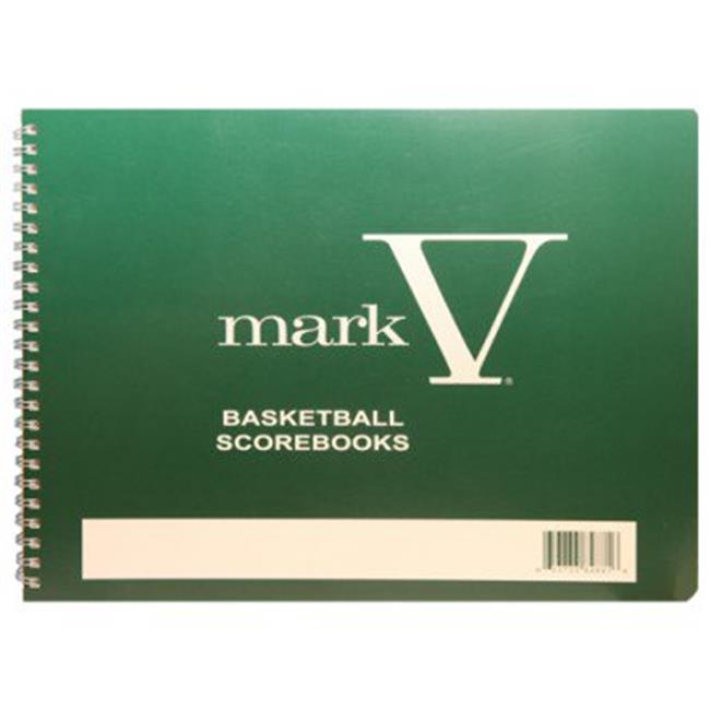 Olympia Sports BK047P 8.5 x 11 in. Mark V Basketball Scorebook by Olympia Sports
