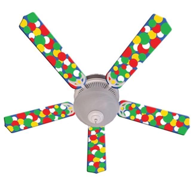 Ceiling Fan Designers 52FAN-IMA-KBBD Kids Light Bright Dots Ceiling Fan 52 In. by Ceiling Fan Designers