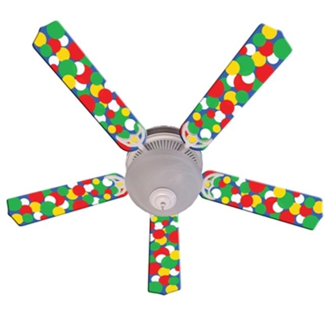 Ceiling Fan Designers 52FAN-IMA-KBBD Kids Light Bright Dots Ceiling Fan 52 inch