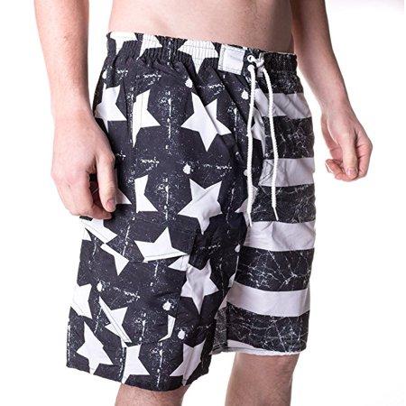 d49a487261 North 15 - North 15 Men's USA American Flag Swim Trunk Boardshorts with  Cargo Pokcet-7111-Print4-2XL - Walmart.com