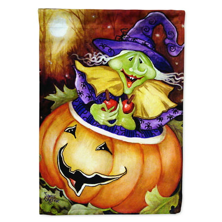 Bewitched and Glowing Halloween Flag Canvas House Size - Bewitched Halloween