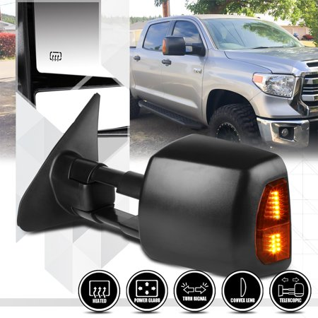 09 Toyota Tundra Mirror ([Left]Driver Side Power+Heated LED Signal Towing Mirror for 07-16 Toyota Tundra 08 09 10 11 12 13 14)