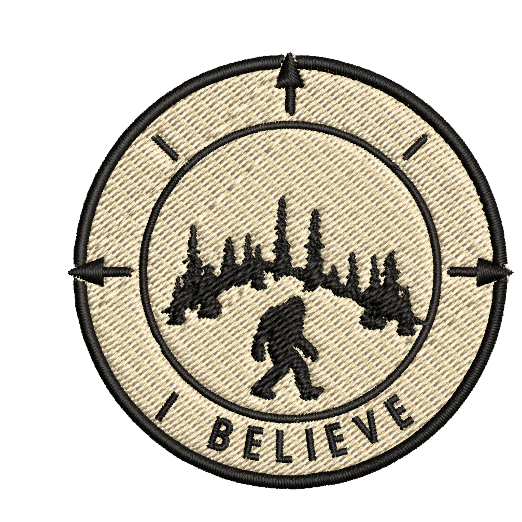 Bigfoot Foot Green Embroidered Patch Iron//SewOn Applique X-Files Cryptid Mystery