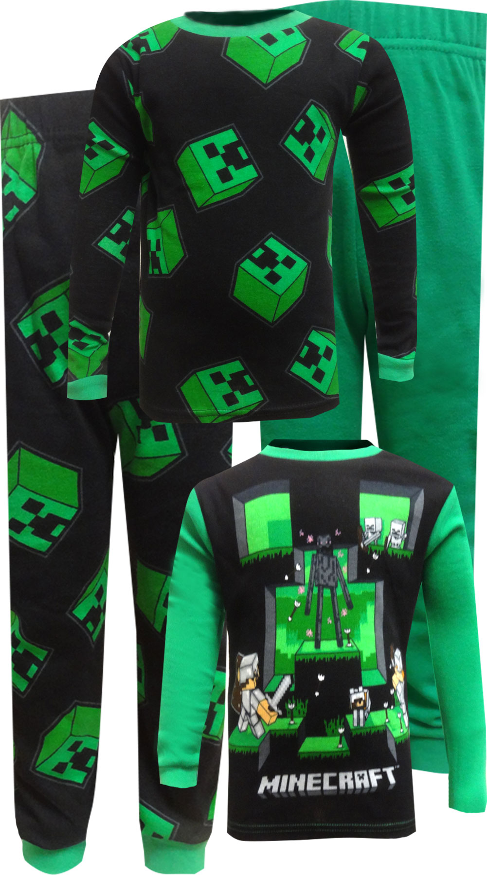 Minecraft Classic 4 Piece Cotton Pajamas by AME