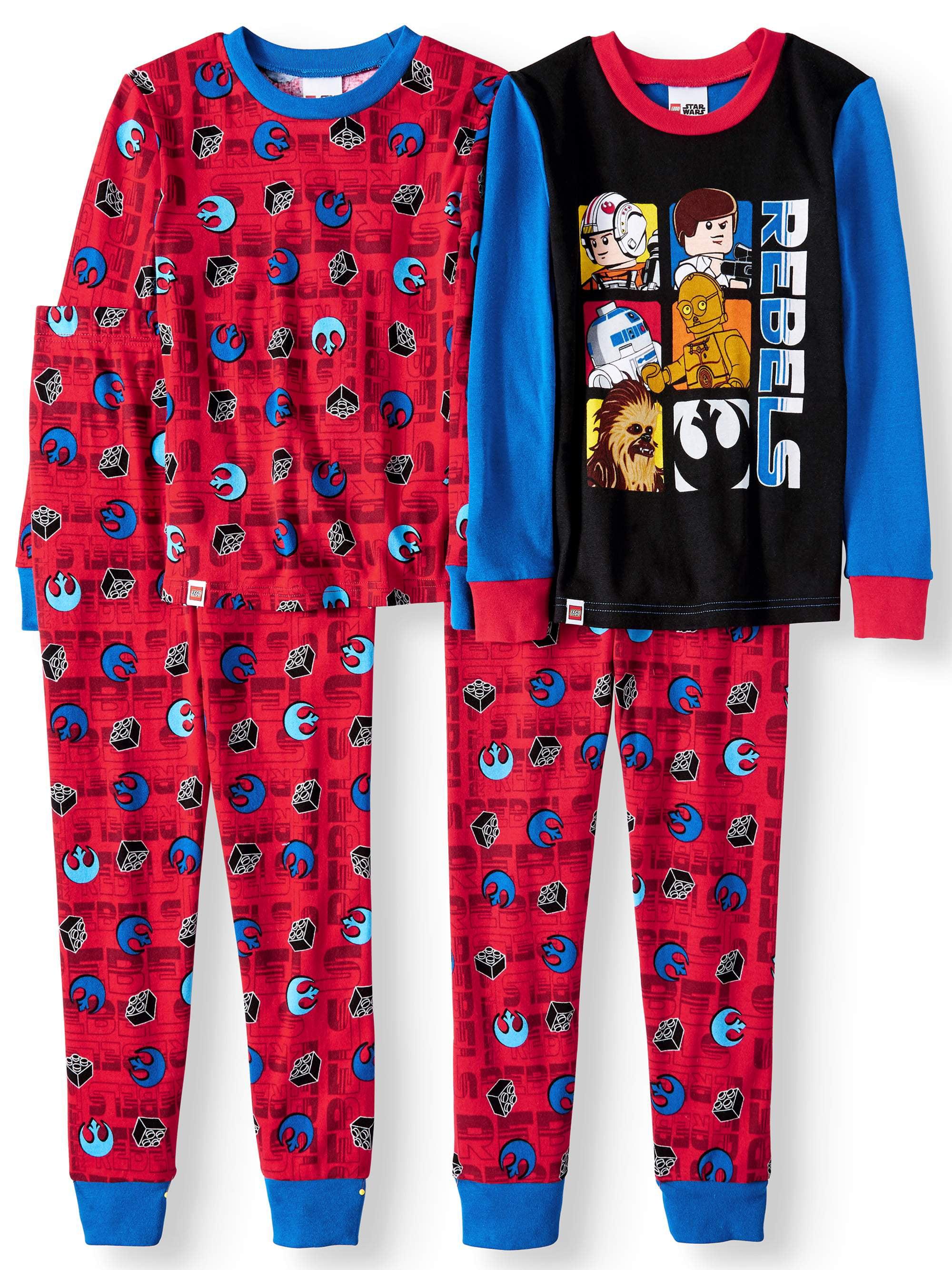 Lego Star Wars - Lego Star Wars Glow in the Dark Fitted Rebel 4 Piece  Pajama Sleep Set (Big Boy   Little Boy) - Walmart.com b1e9fec10