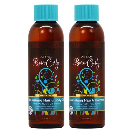 As I am Born Curly Nourishing Hair & Body Oil For Babies & Children 4oz