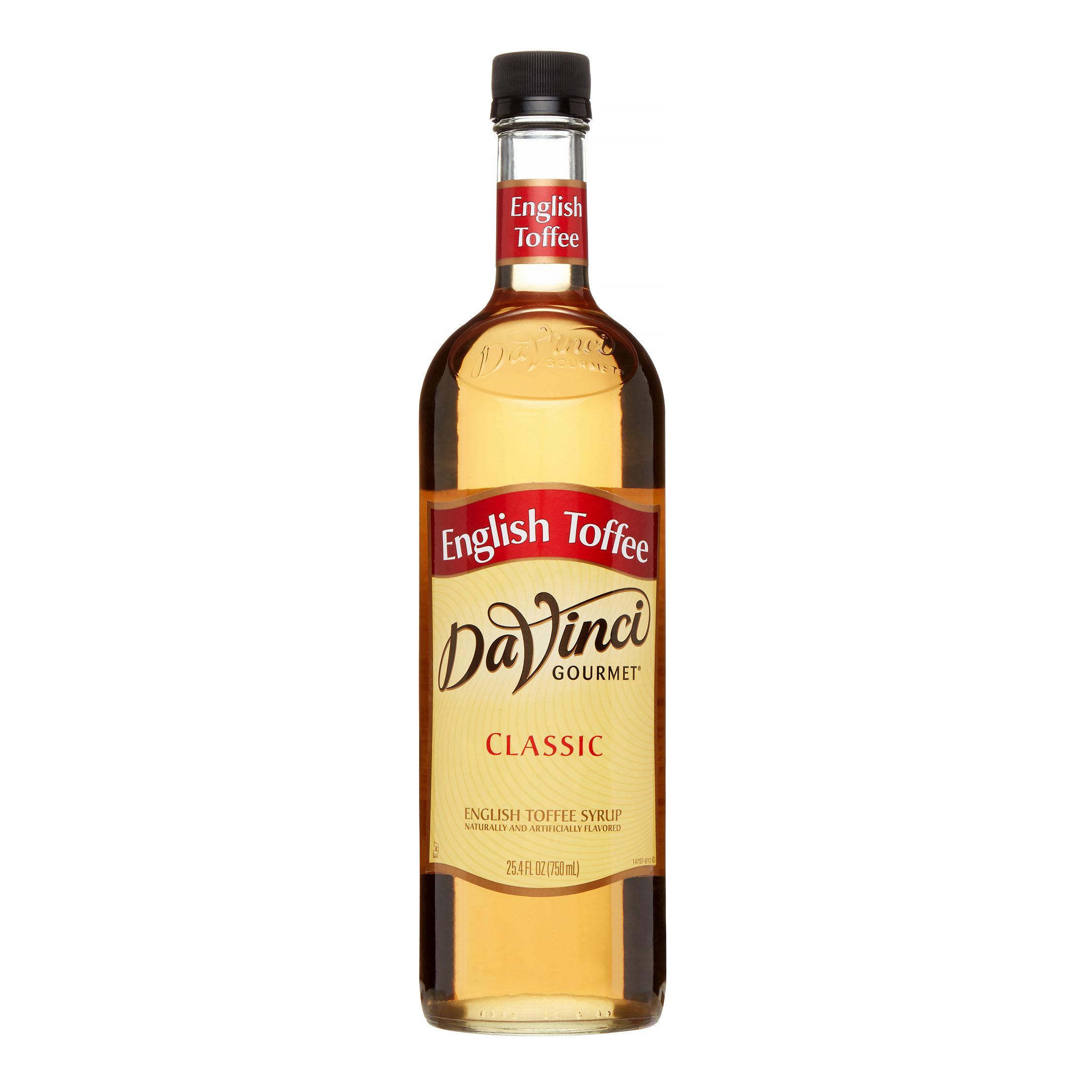 Da Vinci Classic Syrup, English Toffee, 750 mL (Glass) by Kerry