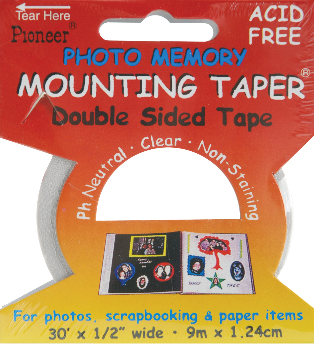 Pioneer Photo Memory Mounting Taper Multi-Colored