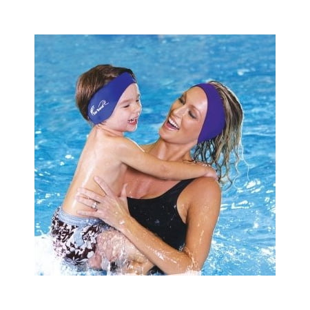 Macks Ear Band Swimming Headband Blue/ Purple (Pack of 2)