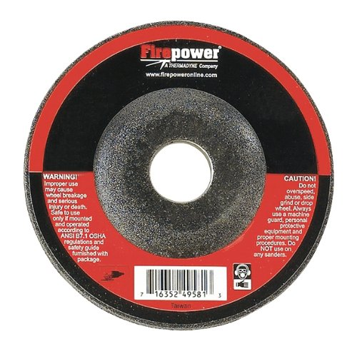 Firepower 1423-2232 4 1/2 In. X 1/4 In. X 5/8 In. -11nc Depressed Center Grinding Wheels, Type 27