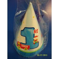 Fun at One Boy Blue Cute Kids First 1st Birthday Party Supplies Favor Cone Hats