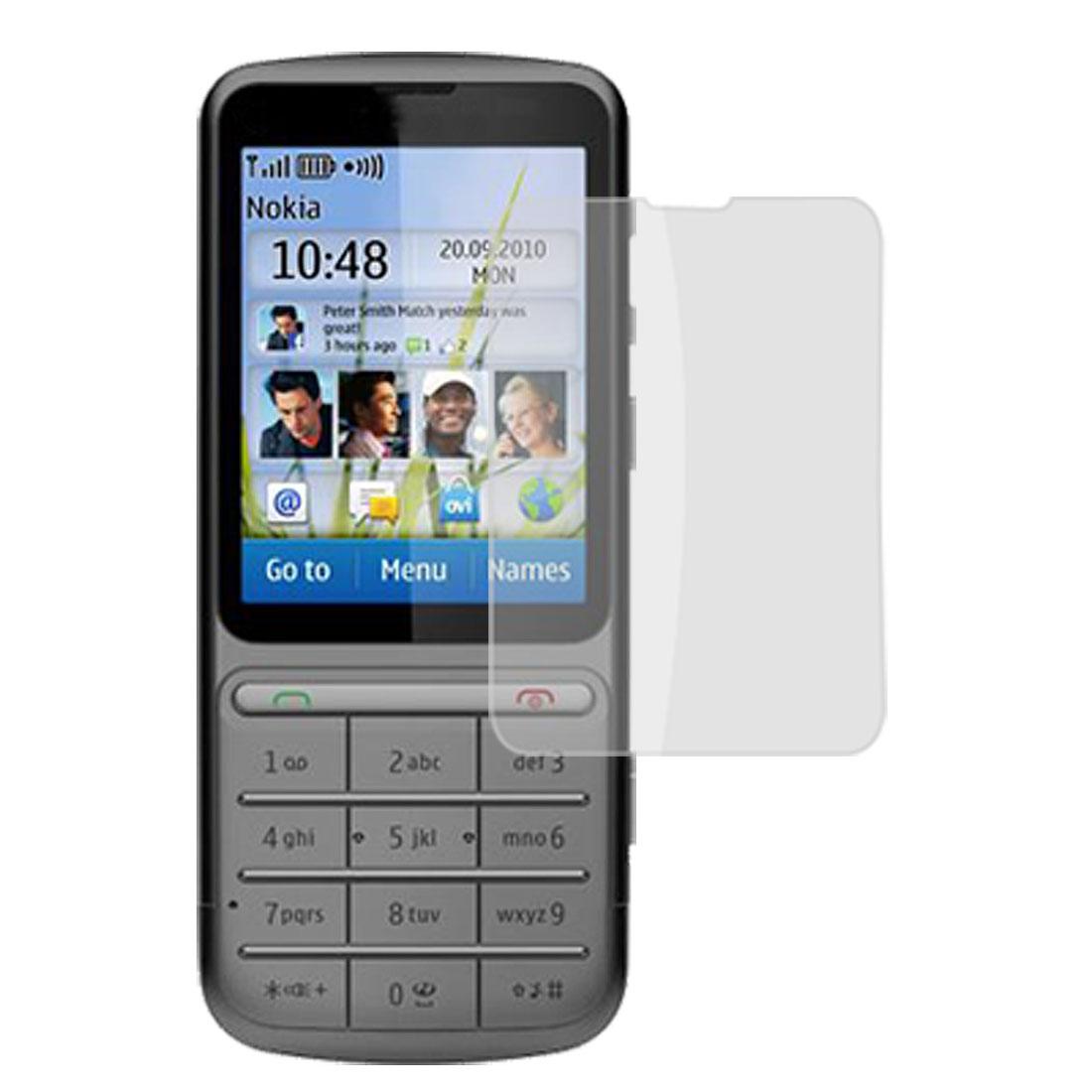 Unique Bargains Replacememt Plastic Clear Film Guard 2 Pcs for Nokia C3-01