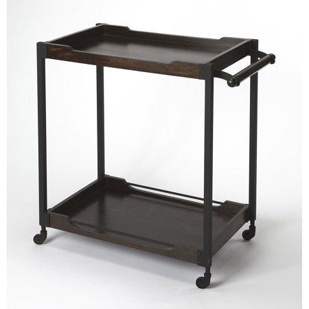 Butler Modern Landry Rectangular Wine Cart With Dark Brown Finish 9269330