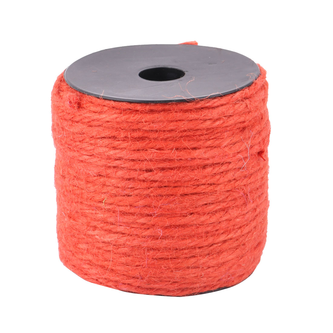 Party Festival Gift Wrapping Crafts Burlap String Ribbon Roll Orange 50M Length