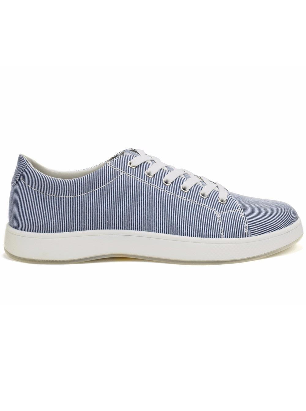 Aureus Men's Lance White Denim Blue Sneakers 11 M US