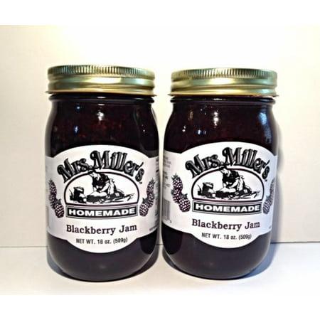 Mrs. Miller's Amish Homemade Blackberry Jam 18 oz/509g - 2 - Homemade Blackberry