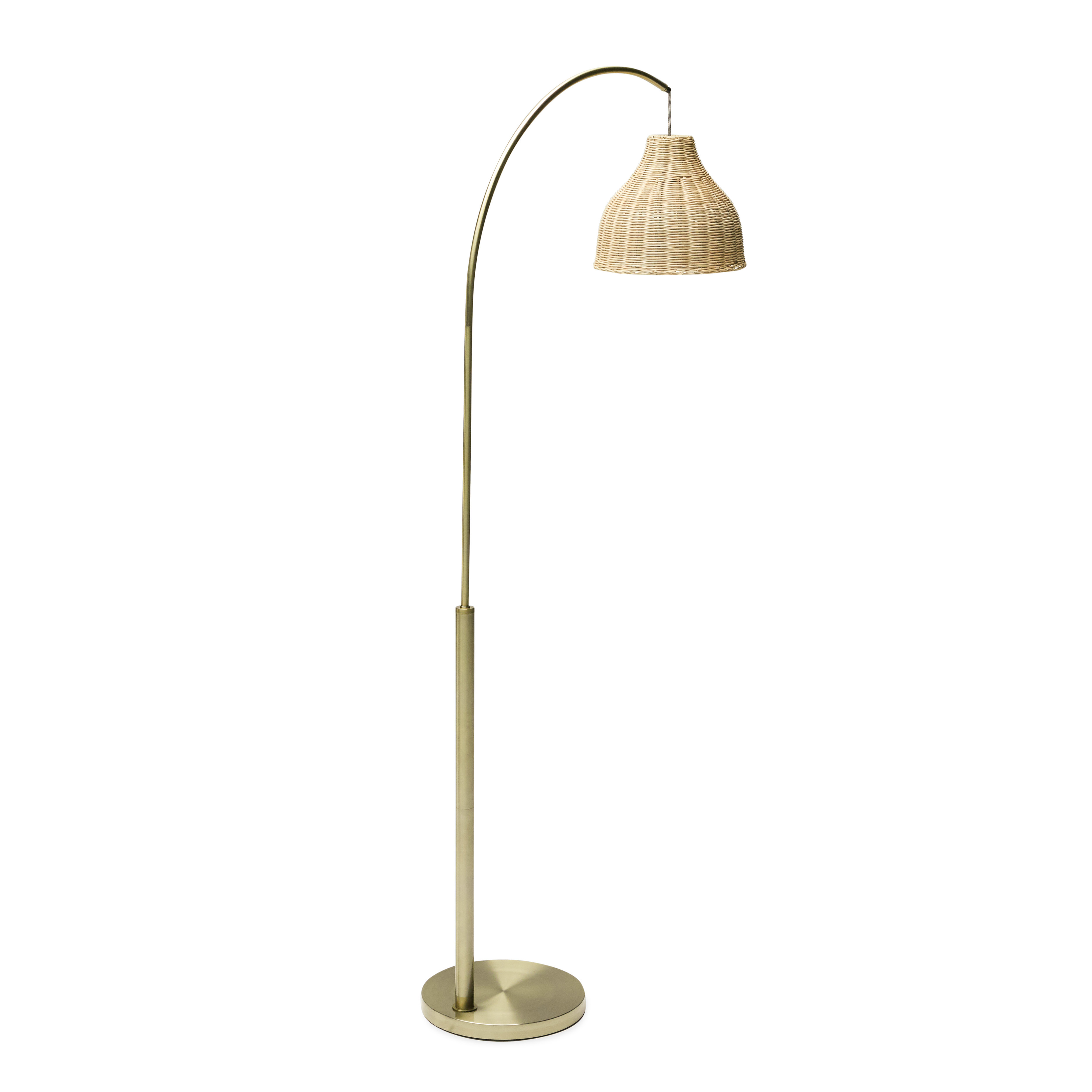 Antique Br Arch Floor Lamp With