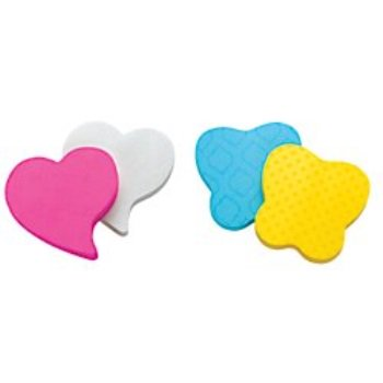 post-it super sticky notes, 3 in x 3 in, heart shape, assorted colors, 75 sheets/pad, 2 pads/pack (7350-t-hrt) Heart Shaped Notes Pad