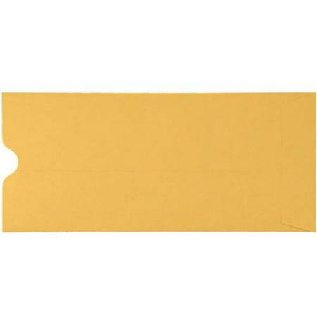 - #10 Thumbcut Open End Envelopes - 28lb. Brown Kraft (50 Qty.)
