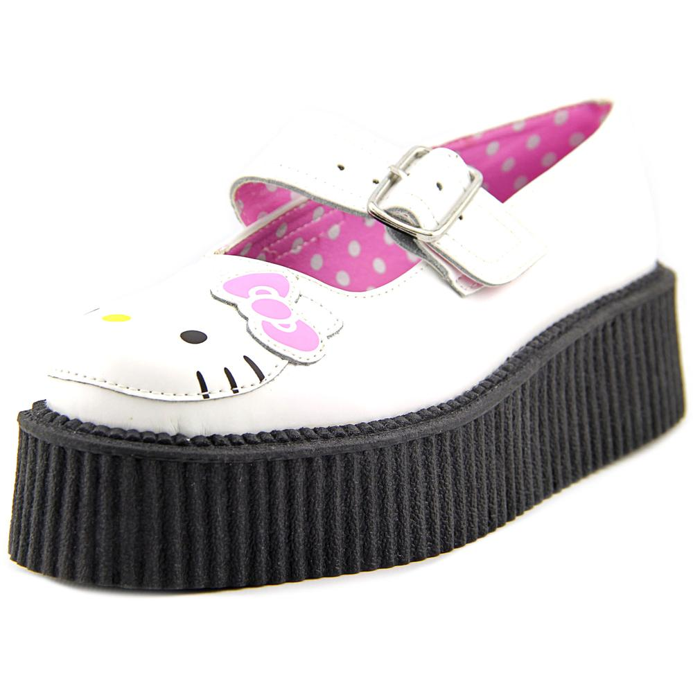 T.U.K. Hello Kitty Mary Jane Creeper Women  Round Toe Leather  Mary Janes
