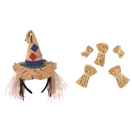 Mini Scarecrow Headband Hat and Straw Kit Wizard of Oz Costume Accessory Kit](Wizard Of Oz Shoes)