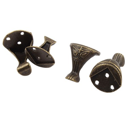 Bronze 1 Hole Installation (Metal Corner Angle Brackets Bronze Tone 3mm Hole Dia 25mm x 29mm 4 PCS)