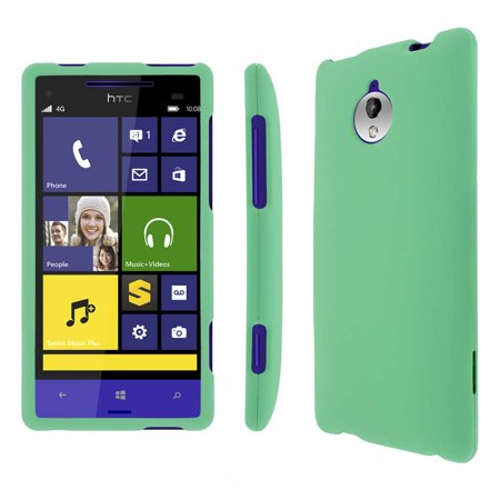 Mpero Snapz Series Rubberized Case For Htc 8Xt   Mint Green