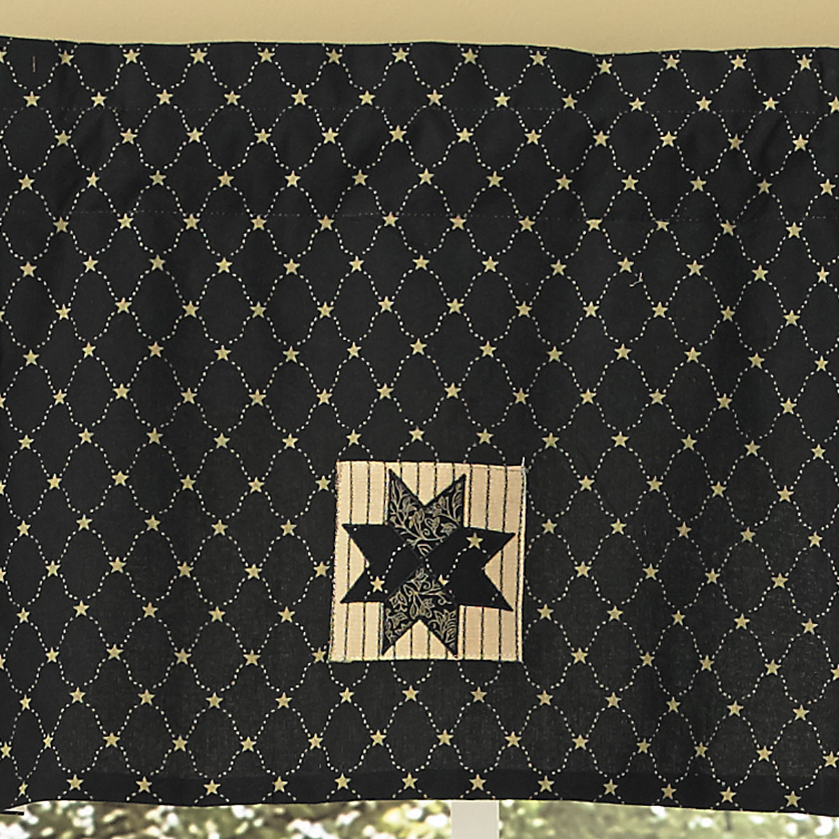 Black and Tan Lined Valance Carrington Pattern by Park Designs