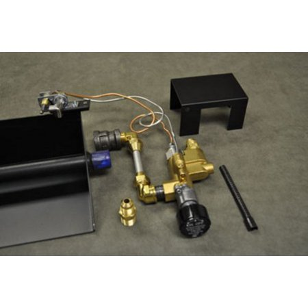 Propane Pilot Light (Fireplace Brass Gas Log Safety Propane LP Gas Pilot Light Complete Kit)