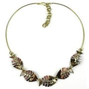Brass Images Fishbone Brass Necklace