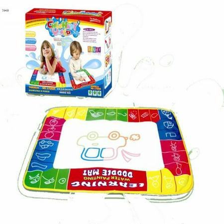 Lightahead All New Water Doodle Mat. A 4 Colored Water Drawing Mat Board with Magic Pen; Foam Cut Out shapes For Kids. An Educational Toy Activity Gift