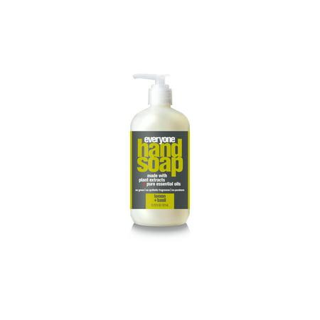 (Everyone Liquid Hand Soap, Lemon and Basil, Triclosan Free, 12.75 Oz)