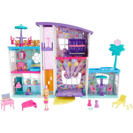 Polly Pocket Poppin' Party Pad with Polly Doll & Accessories ()