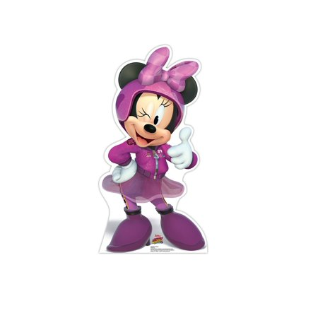 Disney Minnie Mouse Life Size Cutout Stand Large Cardboard Cutout Party Prop Decor Birthday party Supplies, Minnie Disney's Roadster Racers Birthday decoration Size: 42