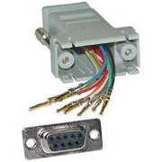 Offex OF-31D1-17400 Modular Adapter, Gray, DB9 Female to RJ45 Jack
