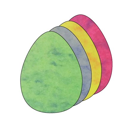Small Marble Assorted Cut-Out - Egg - Marble Eggs