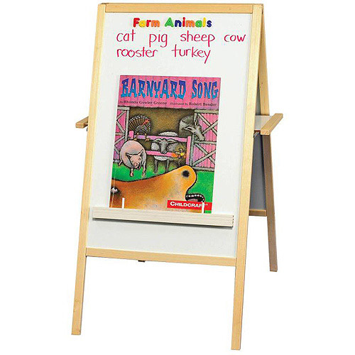 "Best-Rite Magnetic Blue Flannel and Dry-Erase Easel, 24"" x 47"""
