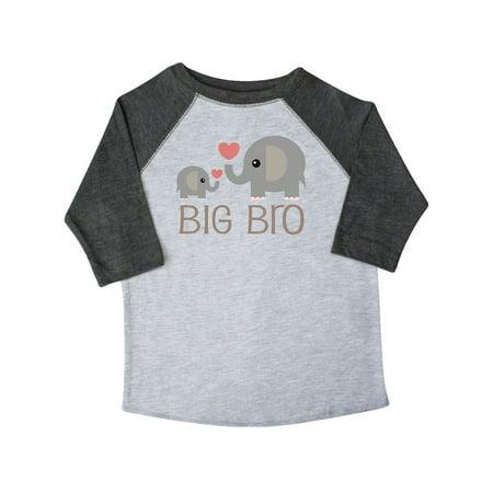 Big Bro Boys Elephant Brother Announcement Toddler - Elephants Parasol Art T-shirt