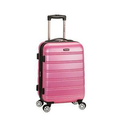 """Melbourne 20"""" Expandable Abs Carry On, Pink"""