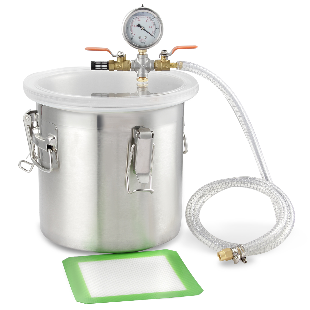 Arksen 2Gallon Stainless Steel Vacuum Chamber, 200mm, Deg...