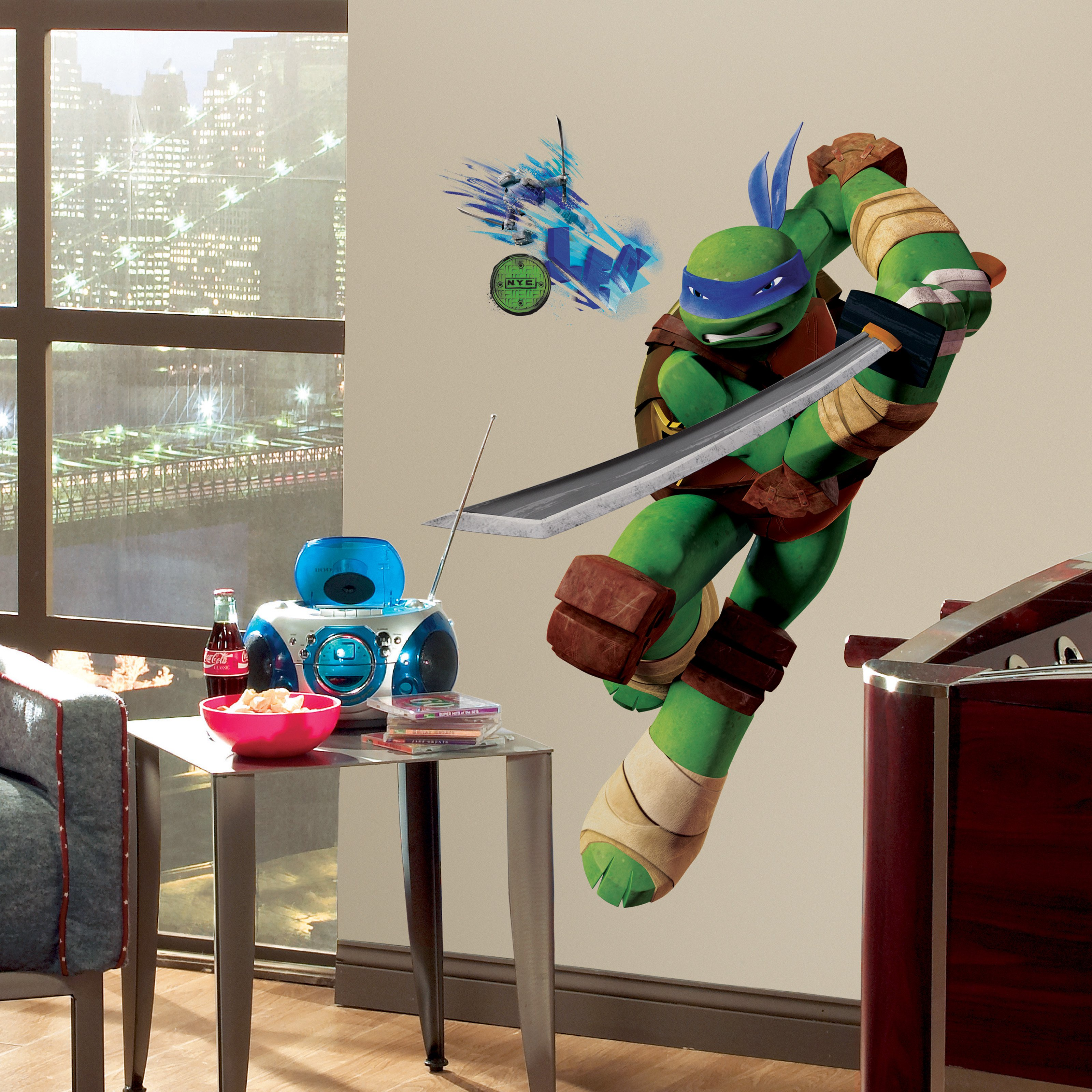 Teenage Mutant Ninja Turtles Leo Peel and Stick Giant Wall Decals