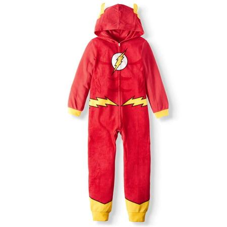 b4d0a3147bb4 DC Comics - Flash   Hooded Sleeper (Little Boy   Big Boy) - Walmart.com