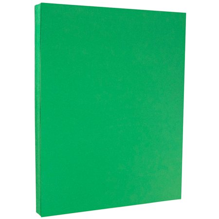 JAM Paper Bright Color Paper, 8.5 x 11, 24 lb Brite Hue Green Recycled, 100 Sheets/pack