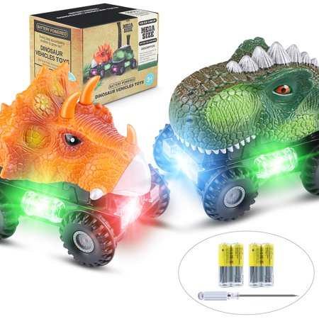 2 Pack Dinosaur Vehicles Set Dinosaur Cars Dinosaur Cars Dinosaur Toys for Boys Toddlers Girls Kids (Feather Boa Cat Toy)