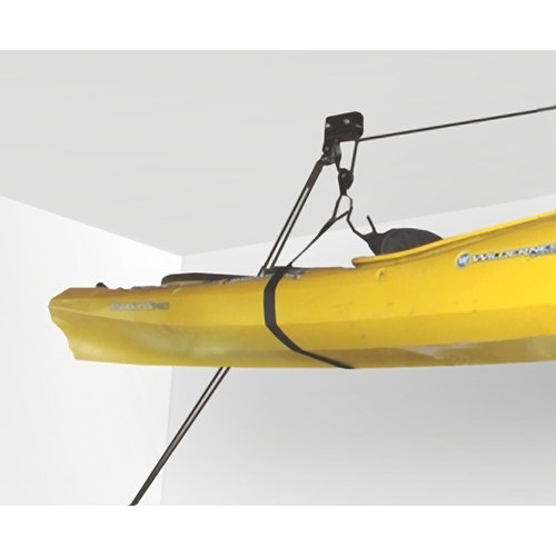 RAD Sportz Kayak Hoist Lift Garage Storage Canoe Hoists (Lifetime Warranty), 125-Pound Capacity