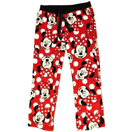 1659a171bc Disney - Disney Women s Minnie Mouse Fleece Pajama Lounge Pants Size Large  - Walmart.com