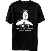 The Office - Dwight Schrute Fact I Am Faster Than 80% Of All Snakes T-Shirt
