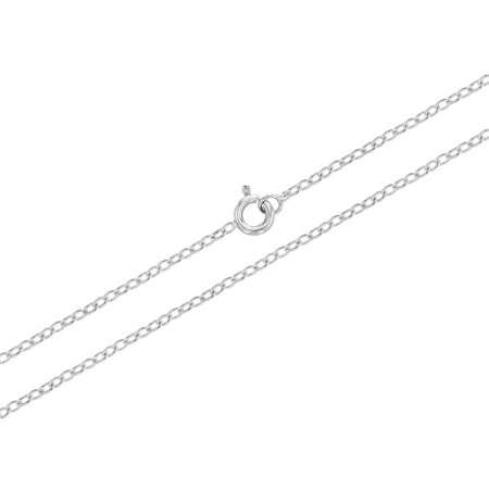 """Plaqué Rhodium croix de coeur collier pendentif Médaille religieuse 19"""" - image 4 de 5"""