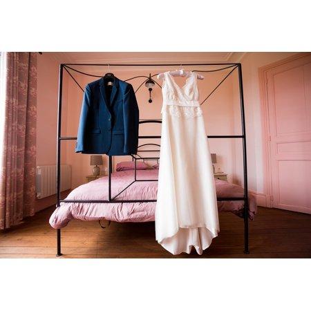 LAMINATED POSTER Costume Blue Garment Wedding Dress Pink White Poster Print 24 x 36 (Laa Laa Teletubbies Costume)